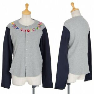 tricot COMME des GARCONS Switching Sleeves Cardigan Size S-M(K-86754)