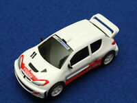 12 V Micro Scalextric-Peugeot 206 WRC Silver-Neuf