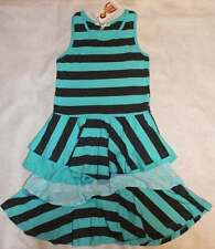 NWT Boutique Joah Love Girl's Sky Blue Striped Knit Agnes Dress 7 8 Yrs.