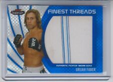 2012 Topps UFC Finest Urijah Faber Jumbo Fighter Relic Blue X-Fractor 087/188 NM