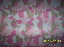 "New Pink Mist Camouflage Fleece Fabric 13"" x 59"" - Last Piece - camo"