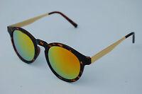 80s Retro fashion sunglasses vintage Mirrored Lens keyhole round good quality