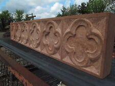HAND CARVED Inglenook camino pietra QUADRIFOGLIO TRIFORA (Regno Unito da artigiano)