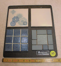 Vintage Ceramic Tile, The American Olean Co. Bathroom set of Samples tiles  (25)