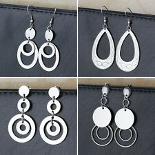 wholesale Lot 4 Pair Fashion Stainless Steel Women Drop Dangle Eardrop Earrings