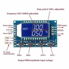 2pcs Signal Generator Pwm Pulse Frequency Variable Duty Cycle Module Lcd Display