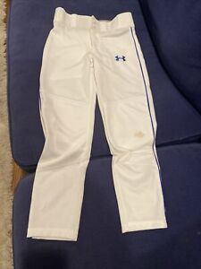 Under Armour Baseball Pants, Boys Size Medium, White