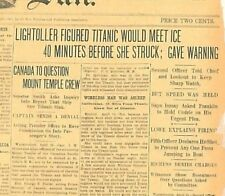Titanic Collection of 51 Original Papers Launch, Sinking and Enquiry Ismay  B24