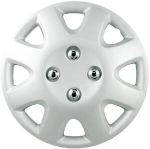 """QUALITY 13"""" GEARX WHEEL COVERS SILVER COLUBER SET OF 4"""