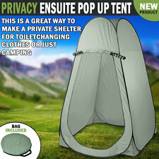 NEW Privacy Ensuite Pop Up Shower Change Room Toilet Flip Out Army Green Tent