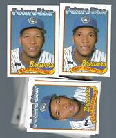 1989 Topps 25 Rookie Lot Baseball Gary Sheffield # 343 NM Brewers