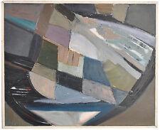 huile sur toile abstraite motifs géométriques