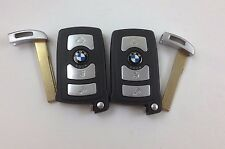LOT OF 2 OEM BMW 7 SERIES SMART KEY LESS REMOTE WITH UNCUT INSERT 6 959 O59-01