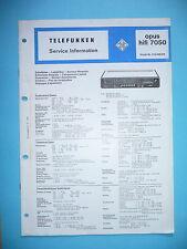 Service Manual-Anleitung für Telefunken Opus 7050  ,ORIGINAL