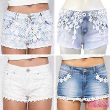 Unbranded Denim Floral Shorts for Women