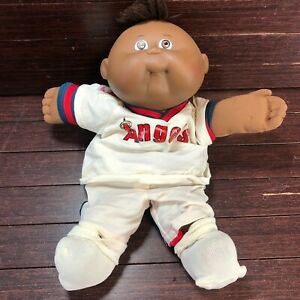 African American Cabbage Patch Kid Preemie 1987 California Angels Jersey HASBRO