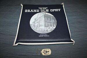 1970s GRAND OLE OPRY SOUVENIR SEAT CUSHION RALPH EMERY BLUE+MUSIC CITY KEY CHAIN