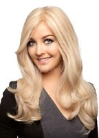 Women's Long Light Blonde Wavy Curly Hair Cosplay Party Heat Resistant Full Wigs