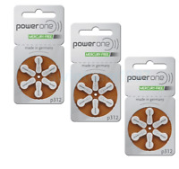 NEW 18 Power One Hearing Aid Batteries 312 PowerOne p312 Fresh Expires 2020