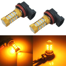 2x Amber Yellow H11 H8 Car Truck Fog Lights Driving Lamp Bright 27-SMD LED Bulbs