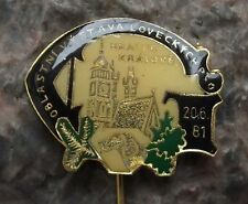 1981 Regional Hunting Dog Show Hradec Kralove Czech Hunt Hunters Hound Pin Badge