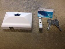 NEW SOUTHCO MOBELLA WHITE ENTRY DOOR LATCH LOCK MG-01-110-70
