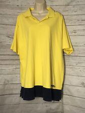 VTG Polo Sport Ralph Lauren Pull Over Shirt Yellow Black Wide Hem Mens XL