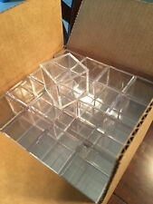 Golf Ball Display Plastic Clear Case Cube Square Holder Autograph 64 total