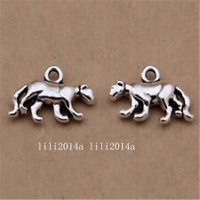 12pc Tibetan Silver Charms leopard Animal Pendant Beads Jewellery Making  PL1082