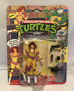 """1992 Teenage Mutant Ninja Turtles APRIL ONEIL Action Figure 4.5"""" Factory Sealed"""