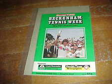 1983 Beckenham Lawn Tournament Tennis Program Robertson Cup Masters Cup Bowring