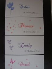 Personalised Birthday Money/gift Voucher Wallet - 4 designs - Any colour!