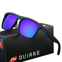 QUIRKE 7 Colors Polarized Mens Sunglasses Outdoor Sports Fishing Vintage Shades