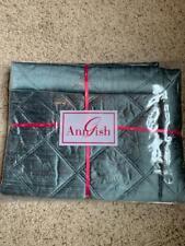 $388! NEW Ann Gish Neiman Marcus Big Diamond Island SILK Standard Pillow Sham