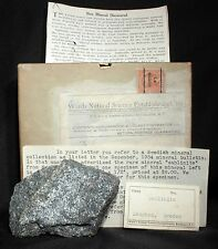 Sahlinite from Langban, Sweden with original Wards Box, Ad, and Label from 1934