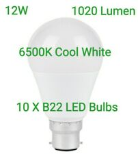 10x LED Light Bulb Bayonet B22 1020 Lumens Energy Saving 12W Daylight Cool White