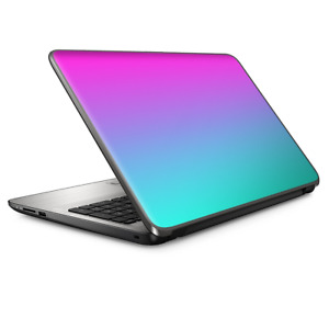 "Universal Laptop Skins wrap for 15"" - hombre pink purple teal gradient"
