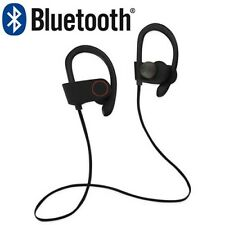 Bluetooth Wireless Earphone Headset Stereo HD Sound Sport iPhone Android Black