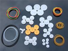 DIY Plastic Belt Wheel Sets with Drive belt Pulley Model Fitting K016