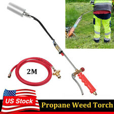 Portable Propane Weed Torch Burner Ice Melter Push Button Igniter With 79 Hose