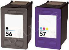 2 CARTUCCE PER HP 56 HP 57 DeskJet 450 5150 5550 OFFICEJET 4212 5510 5610 BL