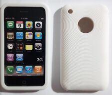 Custodia SILICONE cover Tpu CASE bianca per IPHONE 3 3G white CASE