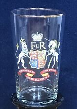 Vintage Elizabeth II Tall Glass Coronation 1953 Royal Collectable Unbranded