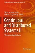 Studies in Systems, Decision and Control: Continuous and Distributed Systems...