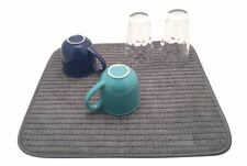 Absorbent Dish Glassware Pots Rack Drainer Kitchen Sink Washing Up Drying Mat