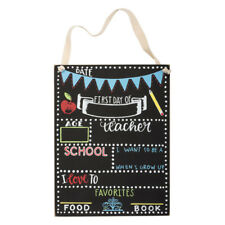 """Primitive by Kathy First Day of School Chalkboard Sign Picture Photo Prop 8""""x10"""""""