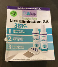 Little Bugs Super Lice Elimination Kit Pesticide-Free Serum Spray & Comb New NIP
