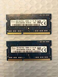 SK Hynix 4GBX2 Total 8gb DDR3L PC3-12800 PC3L-12800S 1600 MHz SODIMM CL11