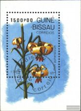 Guinea-Bissau block278 (complete issue) used 1989 Lilies