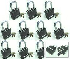 Lock Set by Master M115KALF (Lot 10) KEYED ALIKE Carbide Shackle Weather Sealed